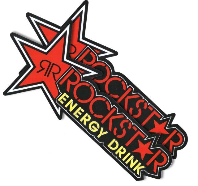 "*11""X2P. RED ROCKSTAR ENERGY DRINK DECAL STICKER PRINT DIE-CUT AUTO MOTOR SPORT"