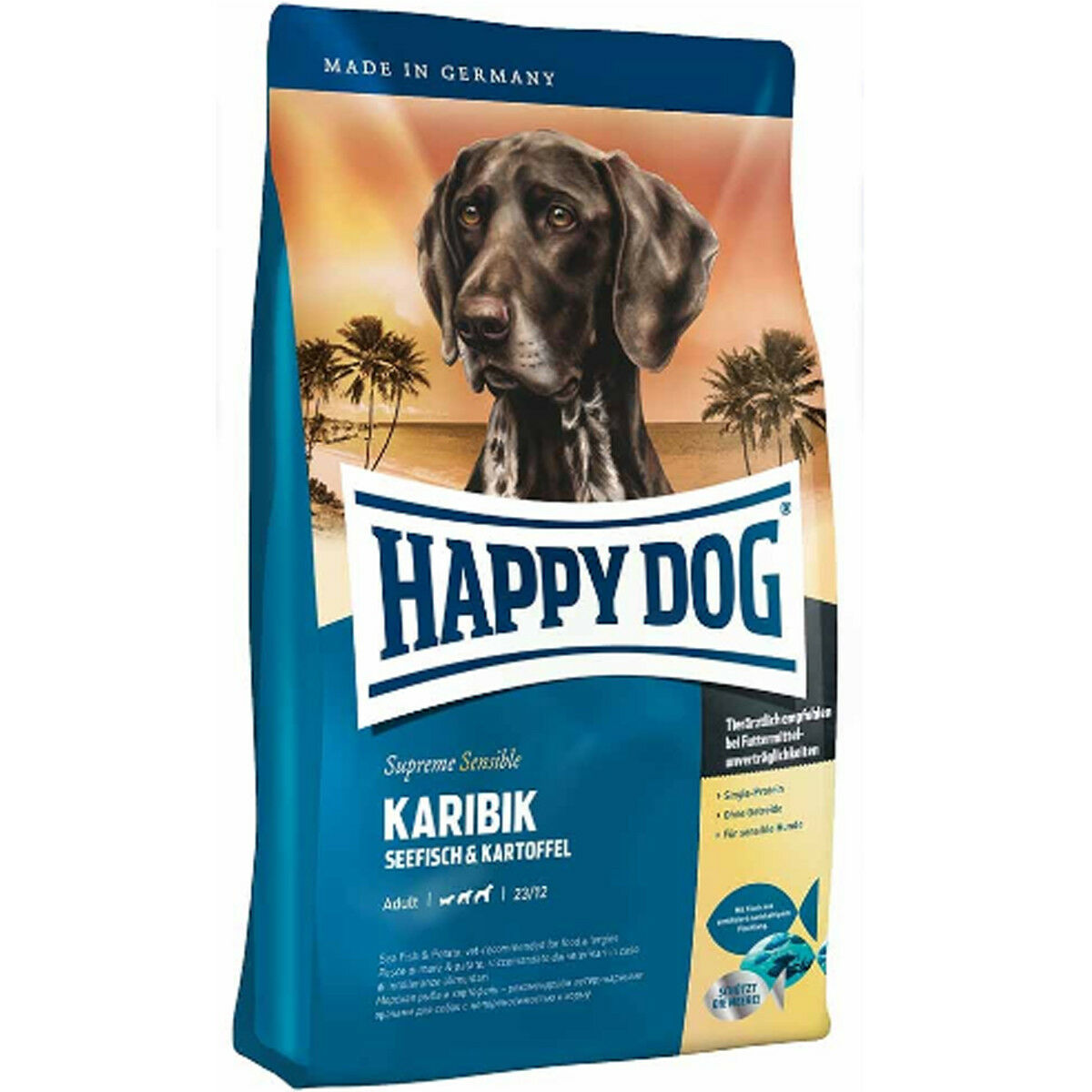 Happy DOG Supreme sensibili Caraibi hdsk cibo per cani ideale per   soffre di allergie MANGIME