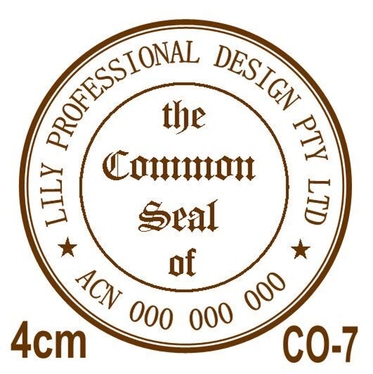 Personalised Custom Self Pre Ink Common Seal Company Stamps 40mm Co 7 For Online Ebay