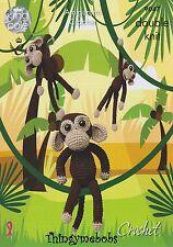 King Cole 9047 ganchillo/Amigurumis chimpancés/Monos Original patrón de ganchillo