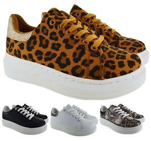 Dettagli su Da Donna Lacci Sneaker Scarpe da ginnastica alla moda plateau comode sneakers SZ mostra il titolo originale