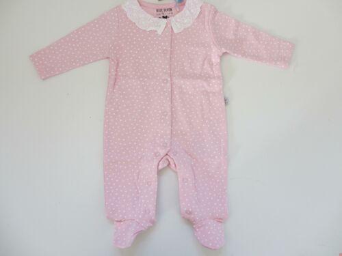 BLUE SEVEN Newborn Strampler Schlafanzug Overall Punkte rosa 432031 NEU