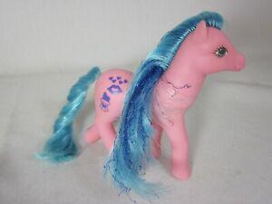 Vintage 1988 My Little Pony G1 Happy Hugs Pink blue sparkle Sweet Kisses Ponies