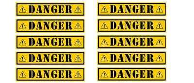"""10 Warehouse Caution Warming Hard Hat 3.5/"""" each Danger Sticker Decals"""