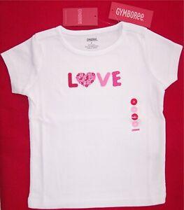 NWT Gymboree Girls Valentines Day Love Top Size 4 /& 5