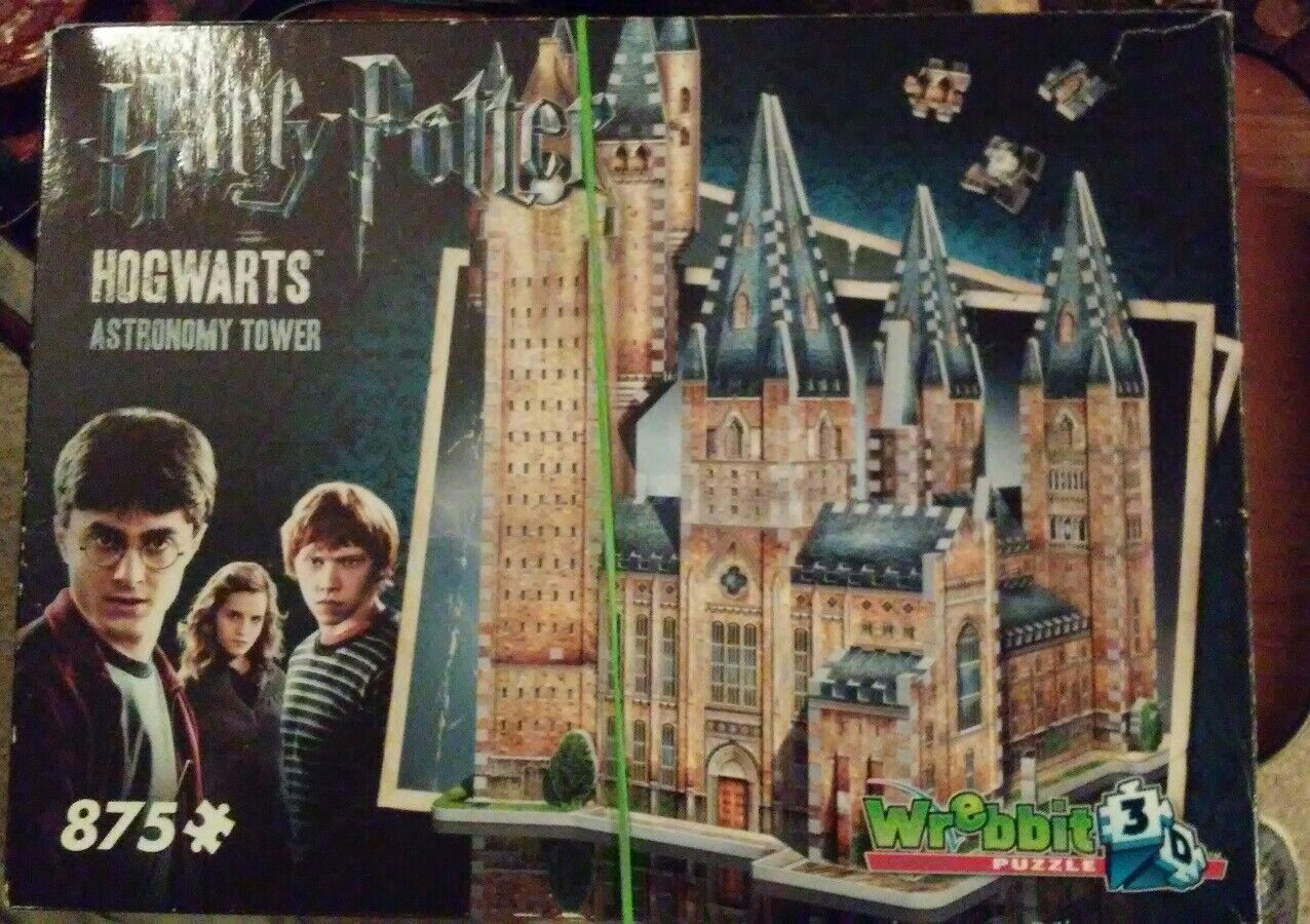 Complete Harry Potter Hogwarts Astronomy Tower Wrebbit 3D Puzzle 875 Pieces