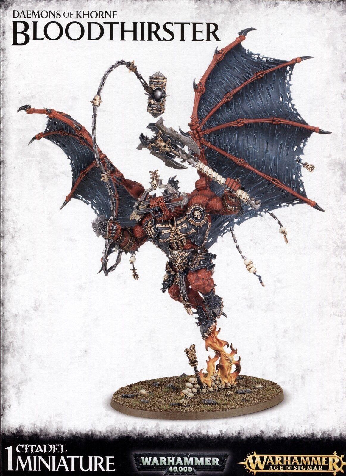Daemons of Khorne Bloorthirster Warhammer 40k Chaos Age NY