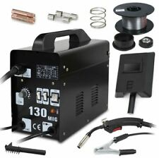 Mig 130 Welder Gas Less Flux Core Wire Automatic Feed Welding Machine With Mask