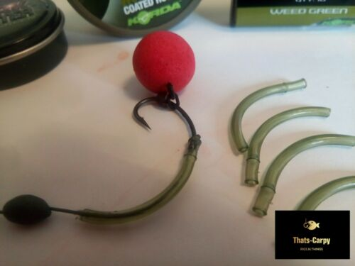 Withy Pool Rig 5 Pack Popup and Bottom Pre Tied Carp Rigs Korda N Trap 20 lb