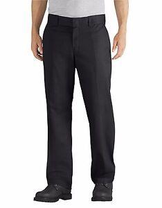 Dickies WP835 Men/'s Black Flex Relaxed Fit Straight Leg Twill Work Pant Uniform