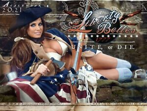 Hot Sexy Liberty Belles 2021 Patriotic Calendar girls - Brand new and in package