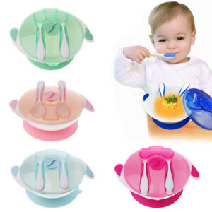 Baby Self-Conscious Baby Learning Dishes Spoon Fork Bowl Set Suction Cup Tableware Eating Feeding Bowls & Plates