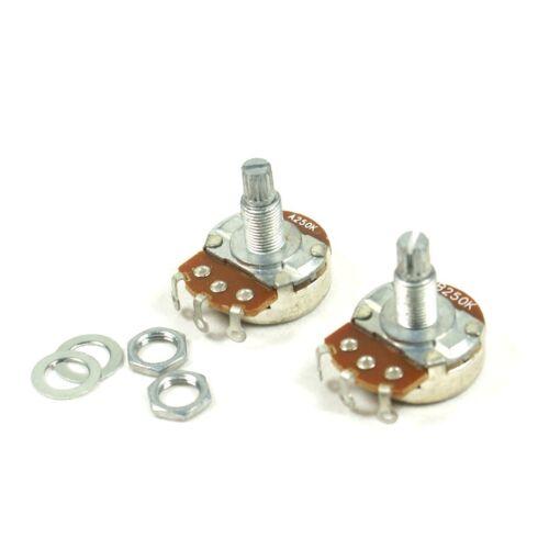 250K A/&B Control Pots Split Shaft Potentiometer For tele strat Full 18mm Shaft