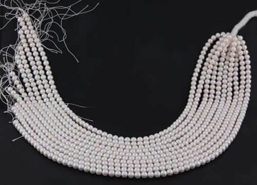 5 Loose Strand of 4.5-5 mm Freshwater Cultured Pearl