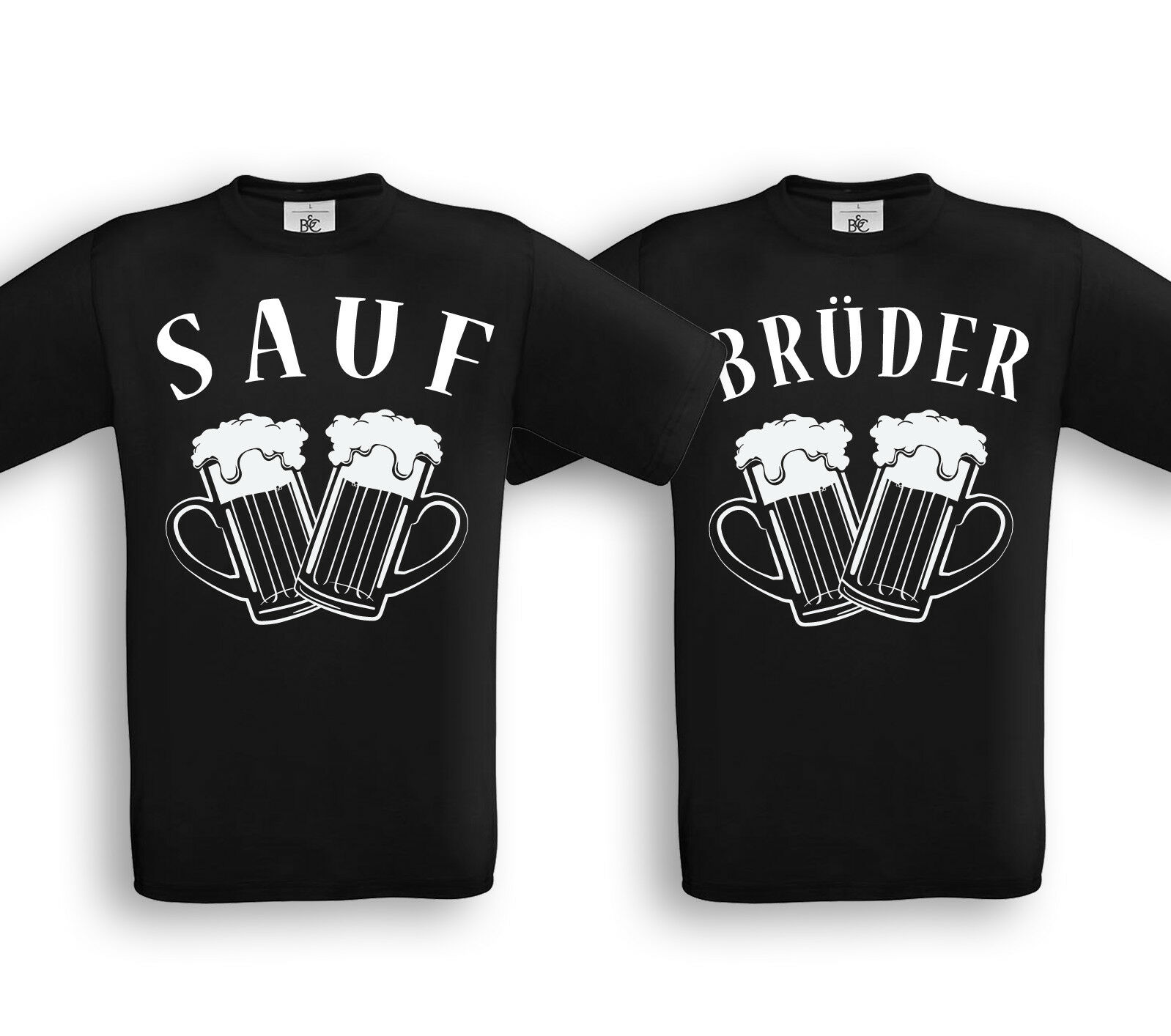 SAUFBRÜDER - Partner Shirts - Friends Freunde Brüder Bier Alkohol Saufen Party