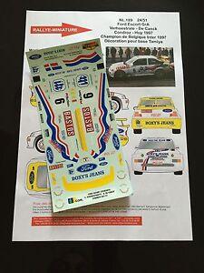 Raisonnable Decals 1/24 Ford Escort Wrc Verhoestrate Rallye Condroz 1997 Rally Wrc Hasegawa Ture 100% Garantie