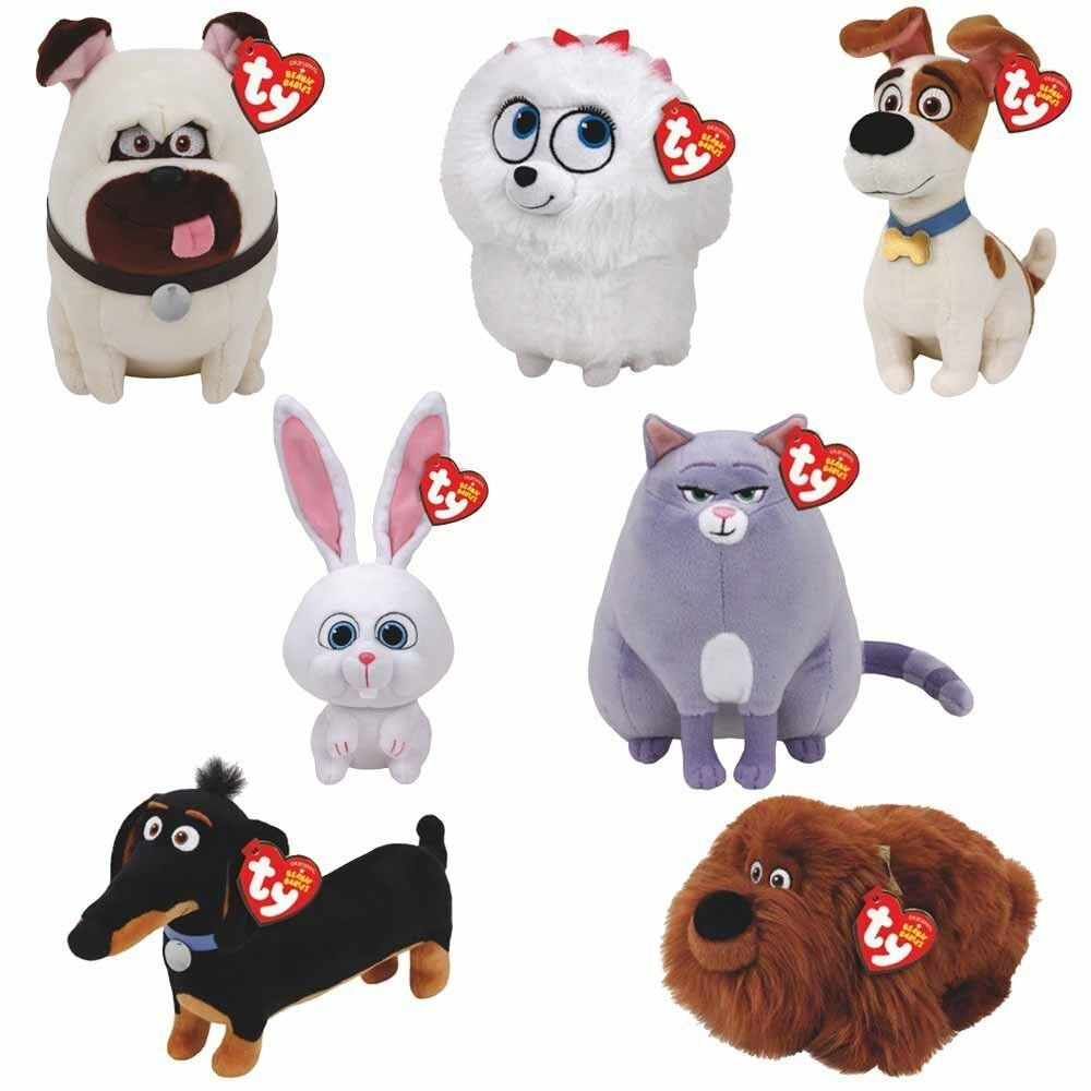 Set of 7 TY Beanie Babies Plush - Secret Life of Pets Movie Soft Toys (6 Inches)