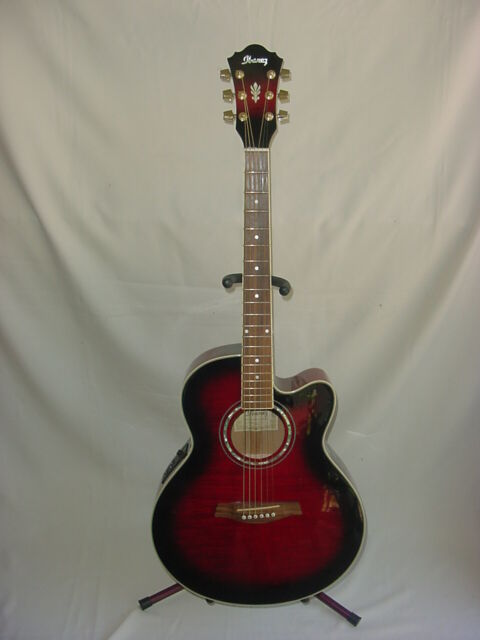Ibanez Ael10e Bk 14 01 Black Acoustic Electric Guitar With Soft Case For Sale Online Ebay