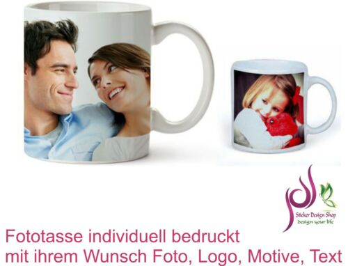 Fototasse Werbetasse individuell bedruckt mit ihrem Wunsch Foto Logo Motive Text