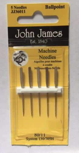 SEWING CRAFT Hobby ALL STYLES SIZES JOHN JAMES Machine Sewing Needles
