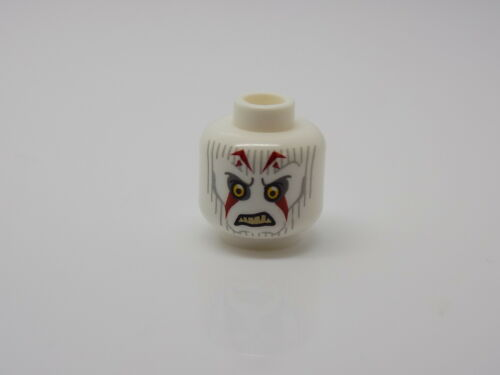 Lego Minifigure Head Alien Pau/'an  Yellow Eyes Gray Lines and Red Markings  #95