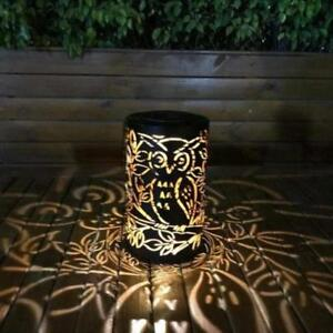 Whitelotous Metal Rattan Solar Led Hanging Lantern Light Ip44 Waterproof Outdoor