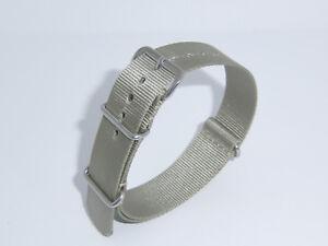"BRAND new RIOS1931 Water Resistant 18 mm STONY GREY watch band strap ""Nylon"""