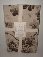 Williams-sonoma S/4 Grape Toile Placemats Charcoal Vines Birds Bees