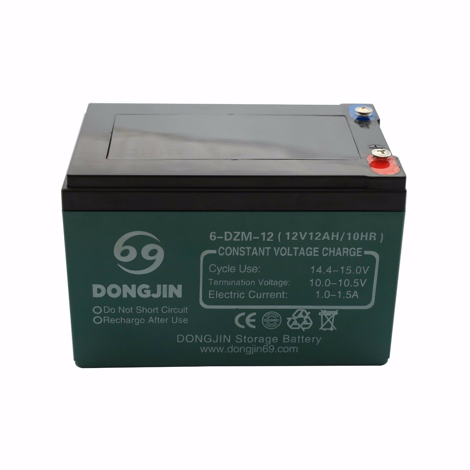 12V 12AH 6-DZM-12 Rechargeable Battery for Electric Scooter ATV Quad Mobility