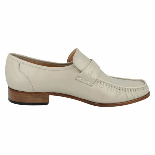 MENS FORMAL LEATHER GRENSON SLIP ON MOCCASIN SHOES IN 3 COLOURS STYLE WATFORD
