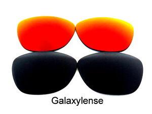 Galaxy-Lentes-De-Repuesto-Para-Oakley-Frogskins-gafas-de-Sol-Negro-y-Rojo