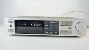 Onkyo-TX-7220-Receiver-Tuner-Amplifier-gecheckt-80er-Jahre-Silber-2x35-Watt