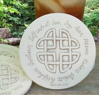Clay Drink Coasters, Fruit Of The Spirit Absorbent Drink Coasters Set Of 4