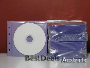 BRANDNEW-200PCS-PURPLE-CD-DVD-PLASTIC-SLEEVES-HOLDS-400