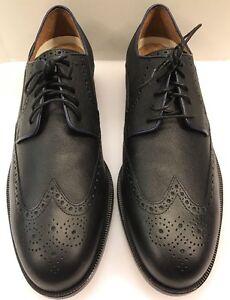Cole Haan Carter Grand Wing Black Saffiano Men's 13 M 8 NIB New C20814