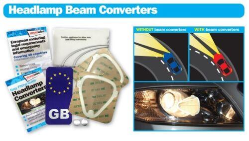 Streetwize Headlamp Beam Converters /& EU Euro Sticker for European Driving 2017