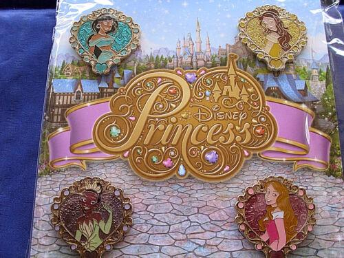 Retired NEW 4 pin BOOSTER Set FRAMED PRINCESSES PRINCESS Disney/'s