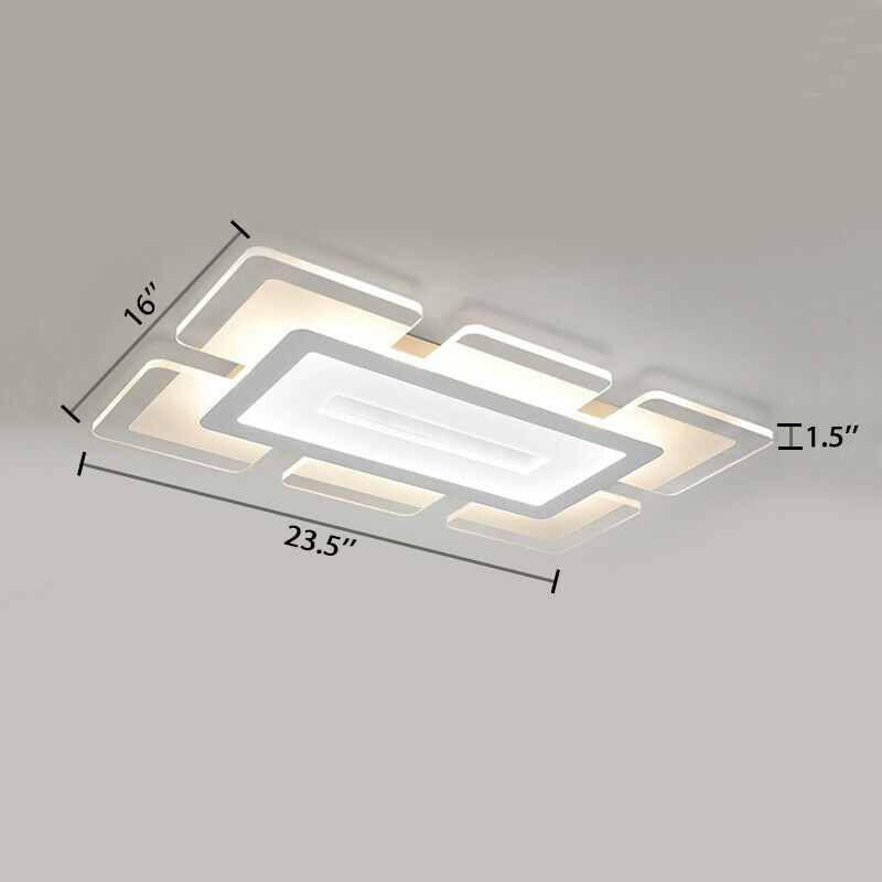 Square LED Ceiling Light Flush Mount Kitchen Bedroom Down Lighting Fixture Lamp