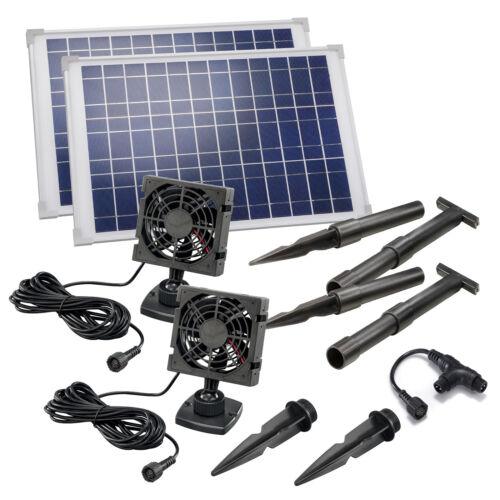 Esotec 101030 20w Ventola Solare Set Duo solare Ventilatore ventola impianto di ventilazione
