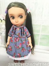 """Disney Baby Doll Clothes jeans skirt Dress Clothing Animator's collection 16"""""""