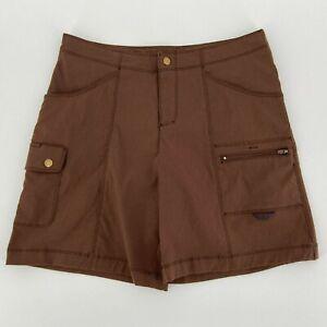 Title Nine Brown Nylon Blend Cargo Golf Shorts Womens 8