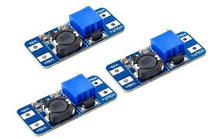 ATEC - 3 x DC/DC Step Up Converter IN:2-24V OUT:5-28V [2A Max] (MT3608) -