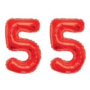 """Number 55 Gold 34/"""" Balloon Birthday Party Decorations 55th Birthday"""