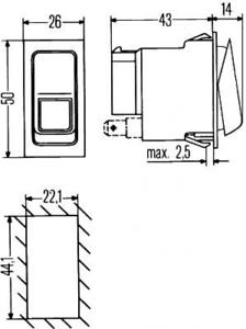 Schalter für Elektrische Universalteile HELLA 6FH 007 832-081
