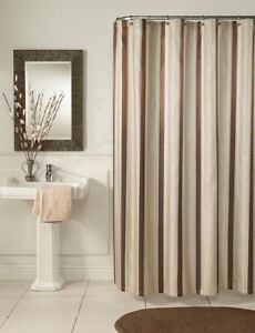 Image Is Loading M Styles MS7968 BLUE Hudson Stripe Shower Curtain