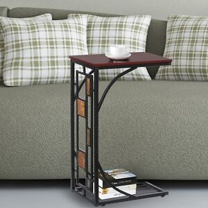 wonderful living room sofa table | Antique Living Room Office End Table Sofa Side Coffee ...
