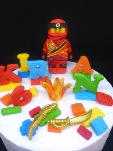 Jay LEGO Ninjago Edible Handmade Personalised Birthday Cake Topper
