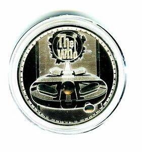 2021 2PD GREAT BRITAIN 1OZ .999 SILVER VERSION THE WHO COIN IN A PLASTIC CAPSULE