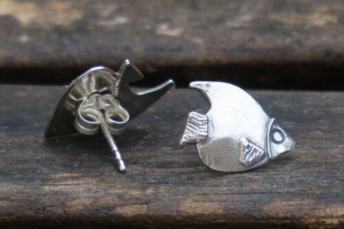 Silver Fish Earrings • Ocean Earrings • Sterling Silver Fish Studs • UK Handmade