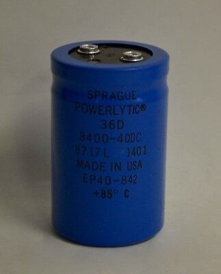 Sprague Powerlytic 36D 3600-40DC Capacitor Used With Warranty